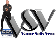 "VSV ""Vance Sells Vero"" Logo with Coldwell Banker logo, and picture of Vance"